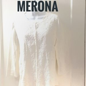 Merona off white sweater